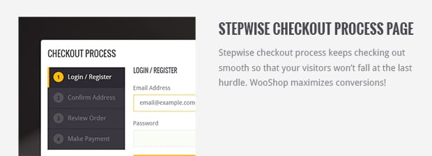 Stepwise Checkout Process Page