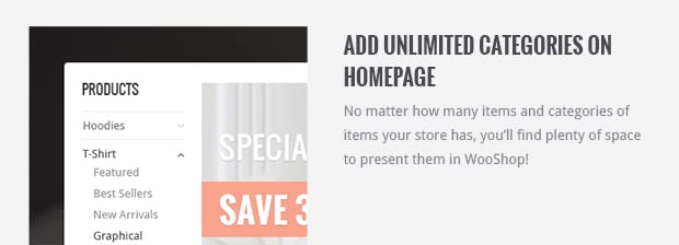 Add Unlimited Categories on Homepage