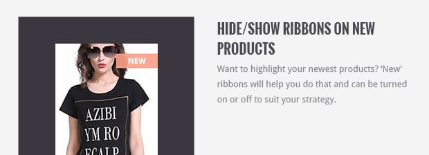 Hide/Show Ribbons on New Products