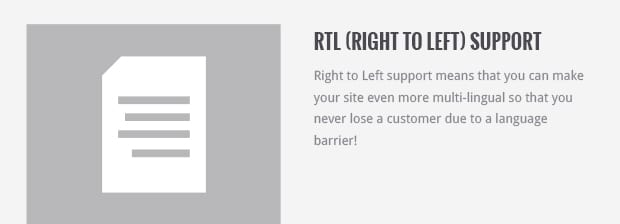 RTL (Right to Left) Support