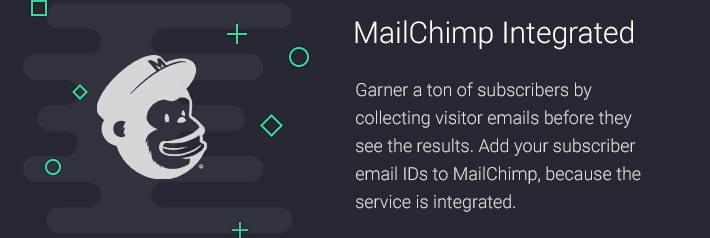 MailChimp Integrated