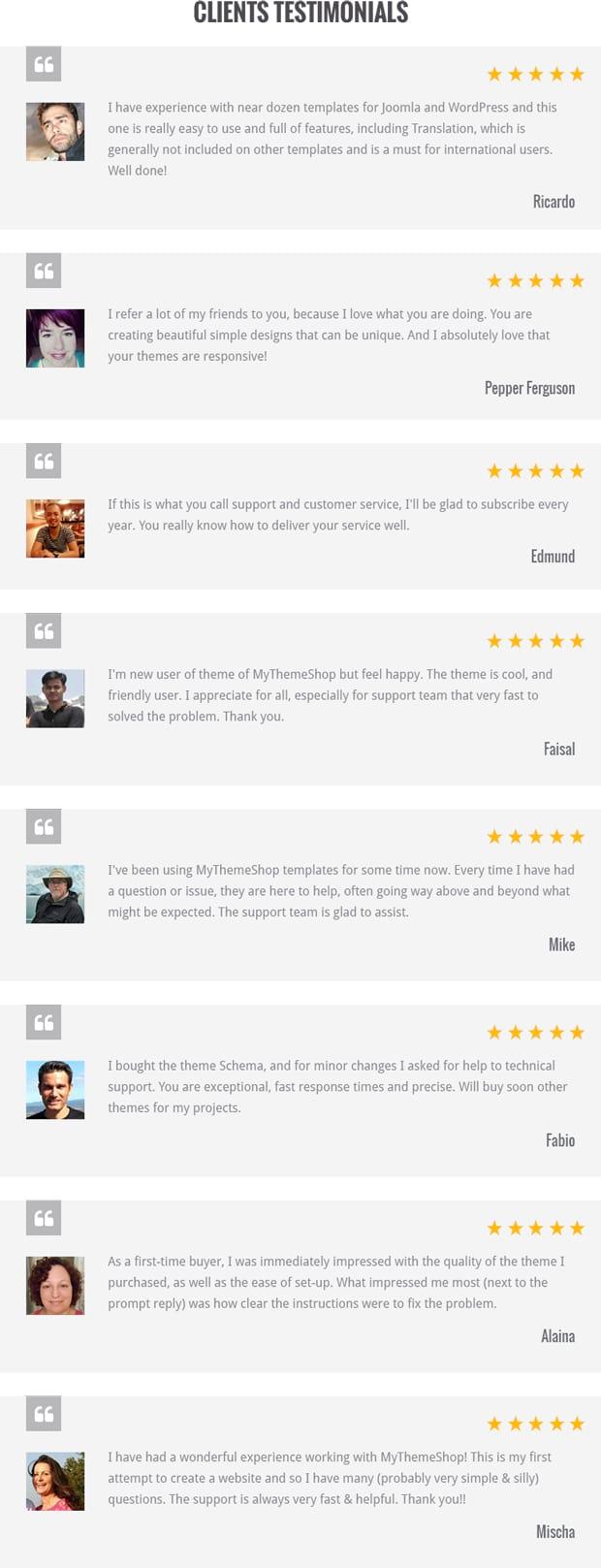 WooShop Testimonials
