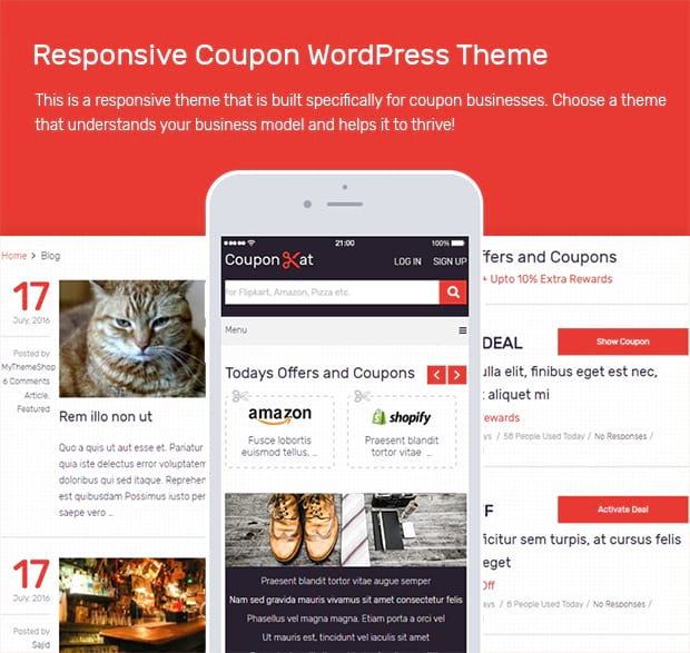 Responsive Coupon WordPress Theme