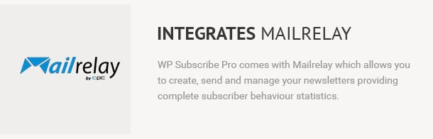 Integrates Mailrelay