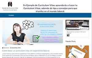 Ejemplo de Curriculum Vitae
