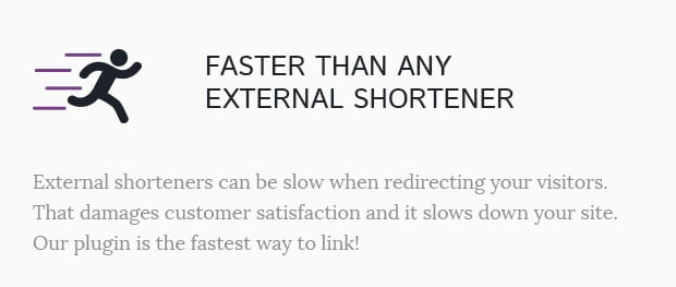 Faster Than Any External Shortener