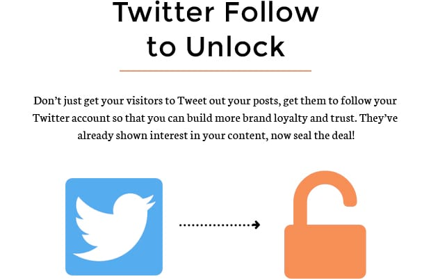 Twitter Follow to Unlock