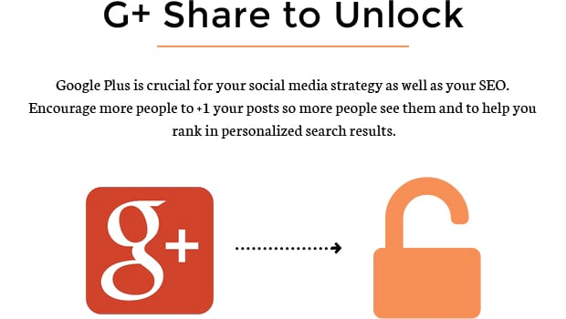 G+ Share to Unlock