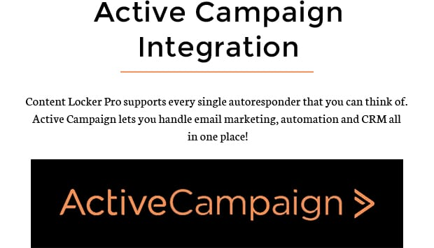 Active Campaign Integration content locker pro