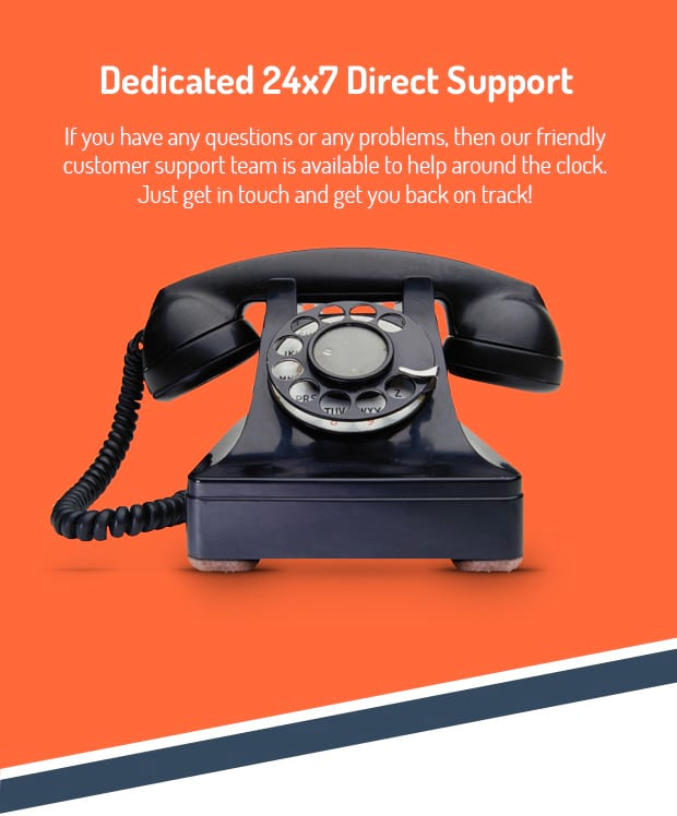 Dedicated 24x7 Direct Support