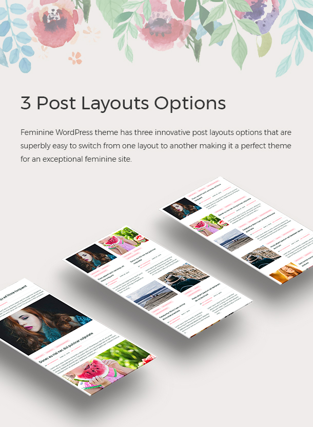 3 Post Layouts Options
