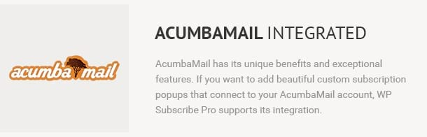 Acumbamail Integrated