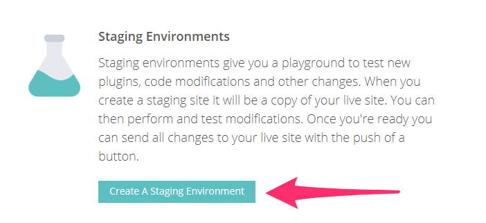 Create Staging Environment