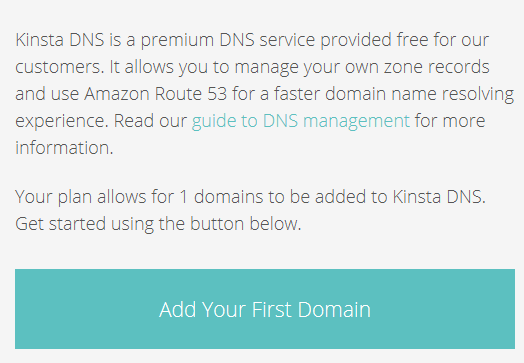Add your first domain