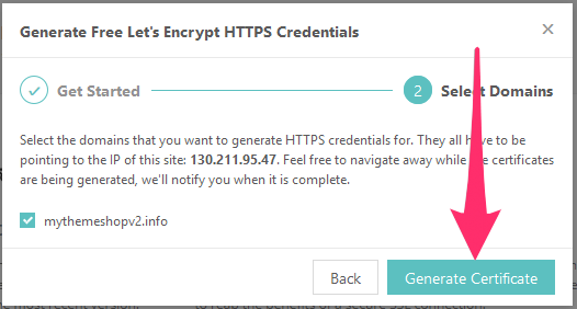 Select Encrypting Domain