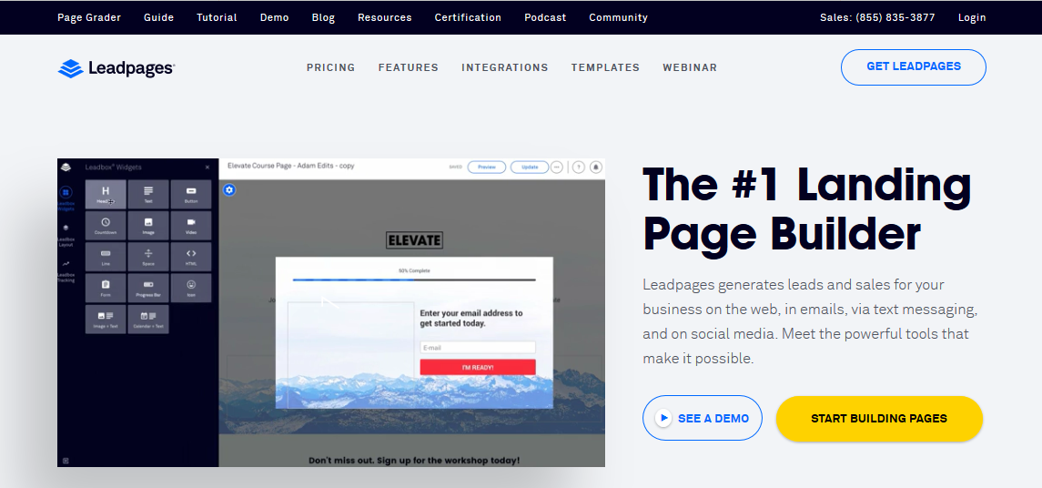 Leadpages Review & Tutorial – The #1 Landing Page Building Tool