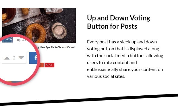 Up and Down Voting Button for Posts