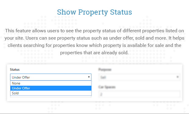 Show Property Status
