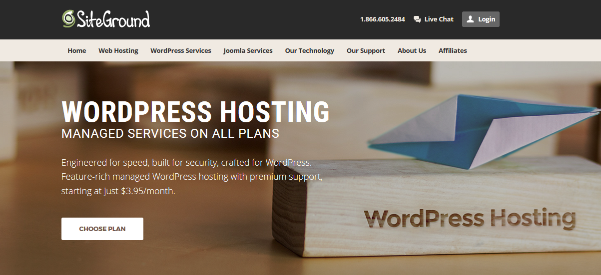 Wordpress Reliable Cheap Site Ground Hosting