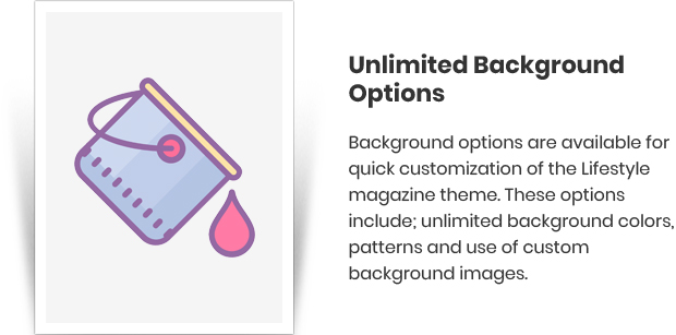 Unlimited Background Options