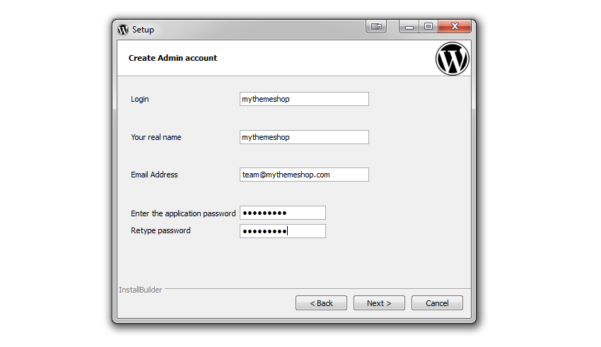 xampp-wordpress-settings