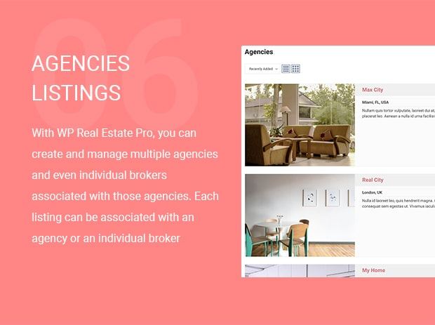 Agencies Listings