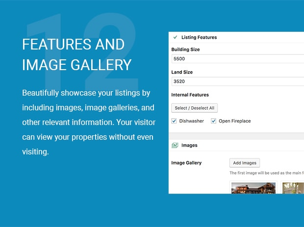 Features and Image Gallery