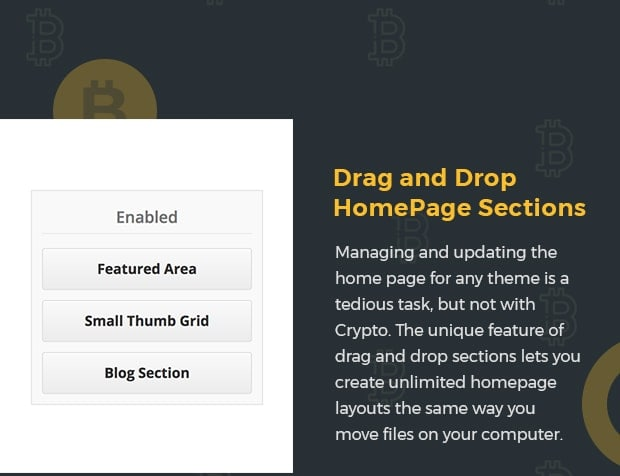 Drag and Drop HomePage Sections