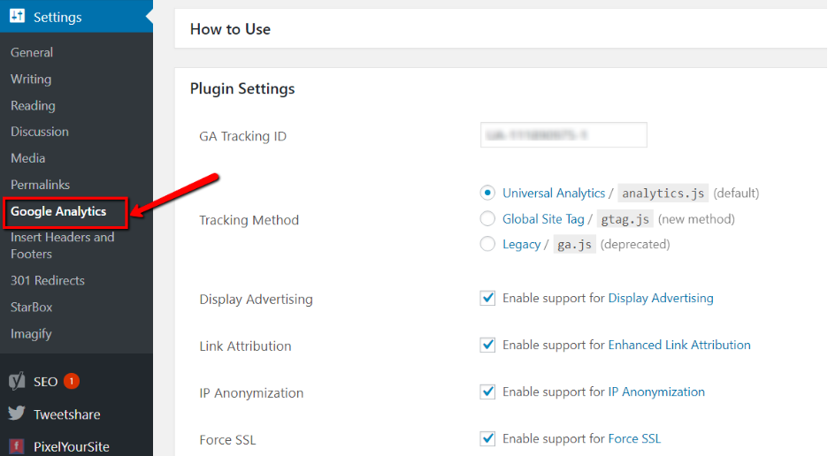 google-analytics-plugin-setting