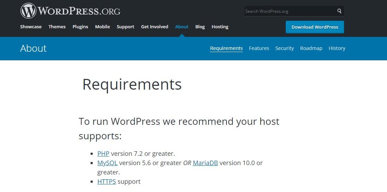 wordpress-requirements