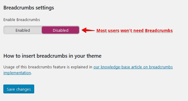 Yoast breadcrumbs disabled